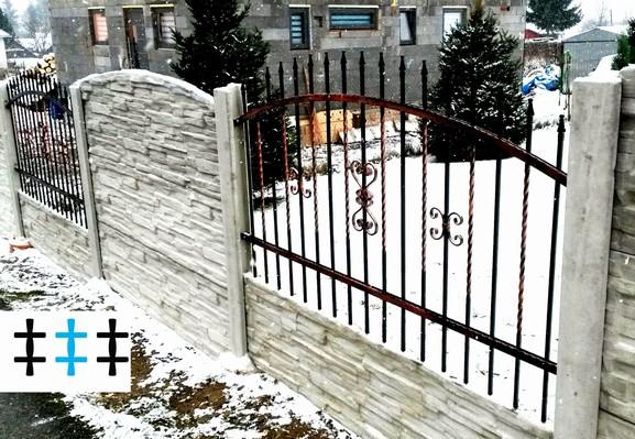 Kovaný plot 10